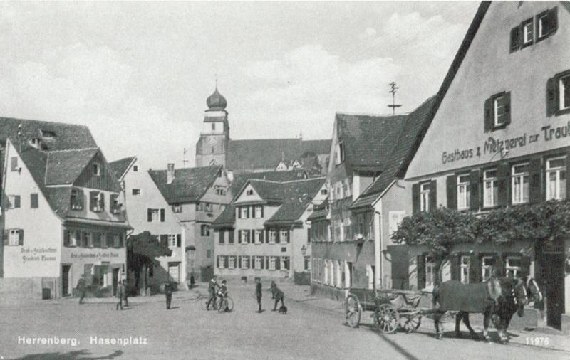 Das Gasthaus zur Traube Herrenberg am Hasenplatz